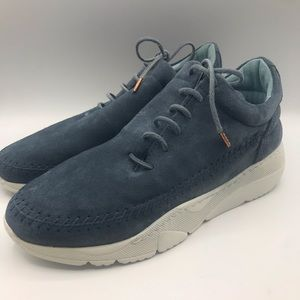 Filling Pieces Blue Suede Whipstitch Sneaker Shoe